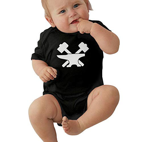 PA2PAFU Blacksmith Baby Clothes Babies Boys' Short Sleeve Baby Rompers Jumpsuit