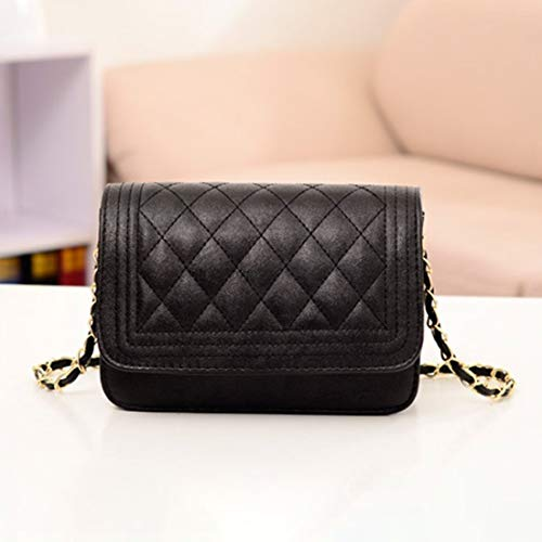 bandoulière à sac en main PU bandoulière en Mode cuir unie à chaîne diamant simple magnétique sac de boucle à sac femmes forme couleur sac EqYt0S