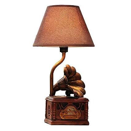 Zhang Yan ZYY Dormitorio de gramófono Vintage Mini lámpara ...
