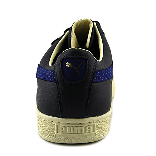 Puma Mens Basket Gtx Alta Moda Sneaker In Pelle Alla Caviglia-blu Mazarine