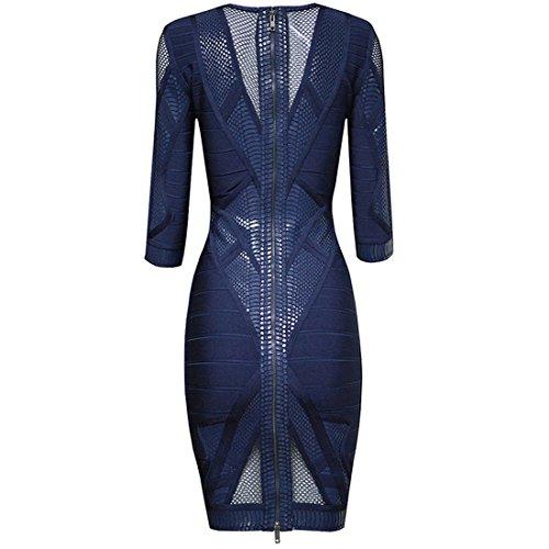 Kleid HLBCBG Damen Blau Blau Blau Blau cC0Fc8Awxq
