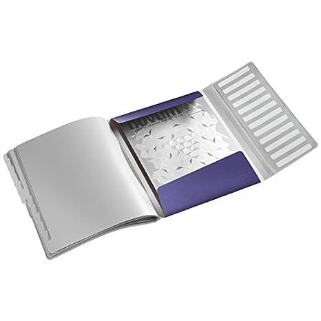 Nero satin 12 scomparti indicizzati Polipropilene Capacit/à 200 fogli A4 Chiusura a elastico Style Formato A4 Leitz 39960094 Libro monitore