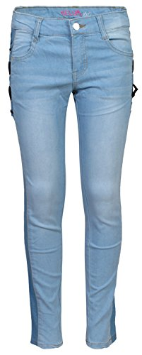 'Delia\'s Girls\' Denim Jeans with Lace-Up Detail and Color-Blocking, Light, Size 10'