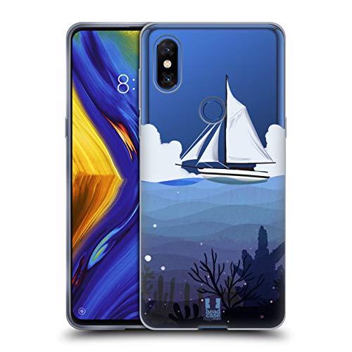 Head Case Designs Sailboat Seascape Soft Gel Case for Xiaomi Mi Mix 3