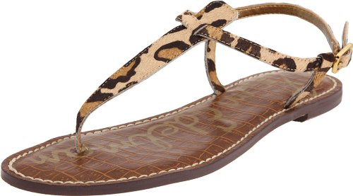 Animal Print Thong - Sam Edelman Women's Gigi Thong Sandal, New Nude Leopard, 8 M US