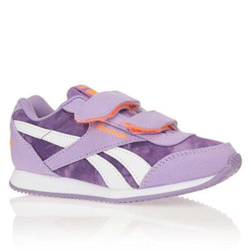 Reebok Royal Cljog 2gr 2v, Zapatos de Primeros Pasos Para Bebés Morado / Naranja (Smoky Violet / Electric Peach)