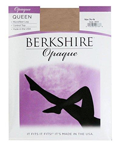 Berkshire Queen Opaque Control Top Tights, Nude, 5X-6X (Womens Nude Opaque Pantyhose)