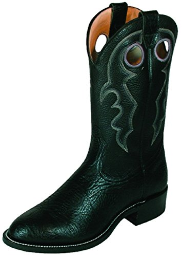 Bottes américaines - bottes western super ropers BO-0027-55-EEE (pied fort) - Homme - Noir