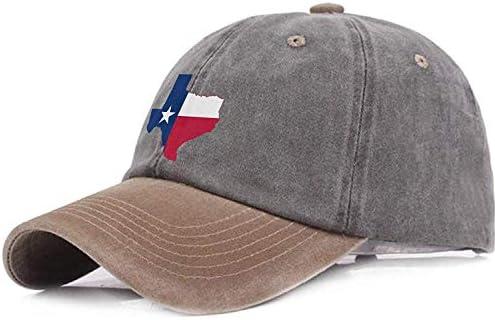 saletopk Mapa de la Bandera de Texas Gorras de béisbol Ajustables ...