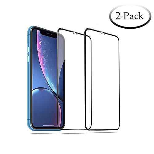 [해외]【 2 켤레 세트 】 아이폰 Xs 최대 전체 커버 9H 경도 케이스 친화적 인 먼지 증거 아이폰 Xs 최대 (6.5 인치)에 대 한 지문 강화 유리 화면 보호기 호환 화면 보호기 / [2-Pack] Screen Protector Compatible for iPhone Xs Max Full Coverage 9H H...