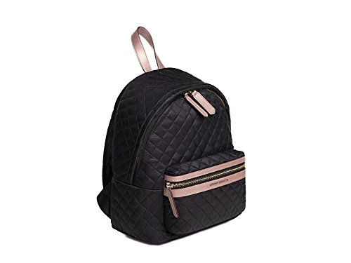 Archer Brighton Lightweight Quilted Nylon Laptop Mini-Backpack (Black)