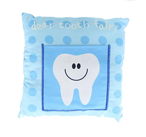 - Gosh! Designs Children's Boys/Girls Tooth Fairy Money Pillow Blue Cushion with Note/Letter Pocket 30cm