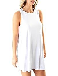 White Sleeveless Dress. Forever 21