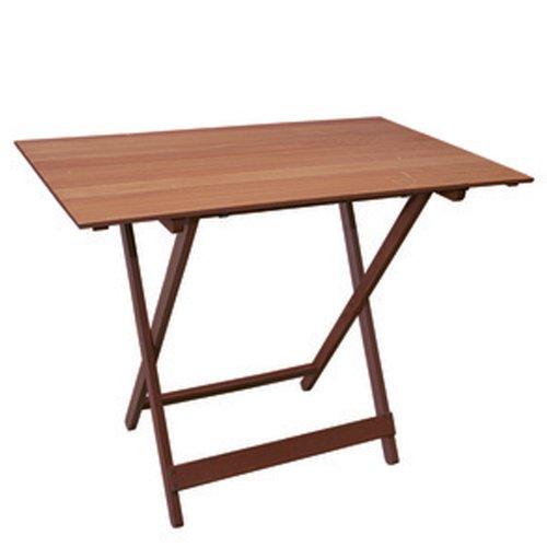 Klapptisch für Garten und Außenbereiche, Möbelstück der Nut-Baureihe, Massivholz, Nussbraun