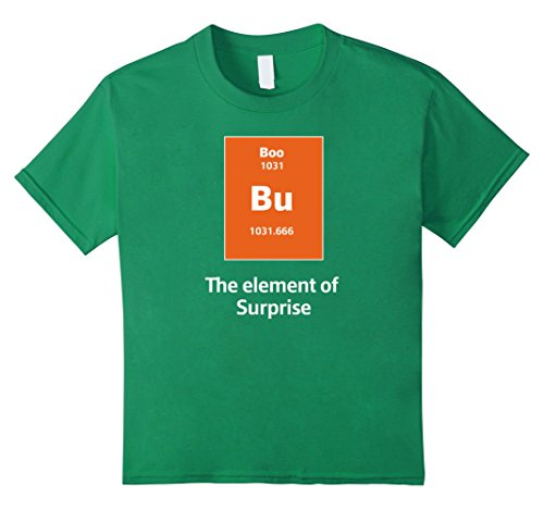 Kids Boo Bu The Element Of Surprise Science Halloween Costume Tee 4 Kelly (Four Element Costumes)