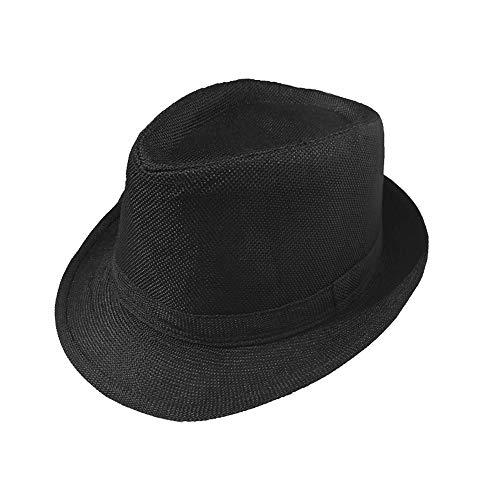 1920s Men Accessory Set Manhattan Hat Cap for Men,Manhattan Hat for 1920s Mens Costume Accessories (Black) ()