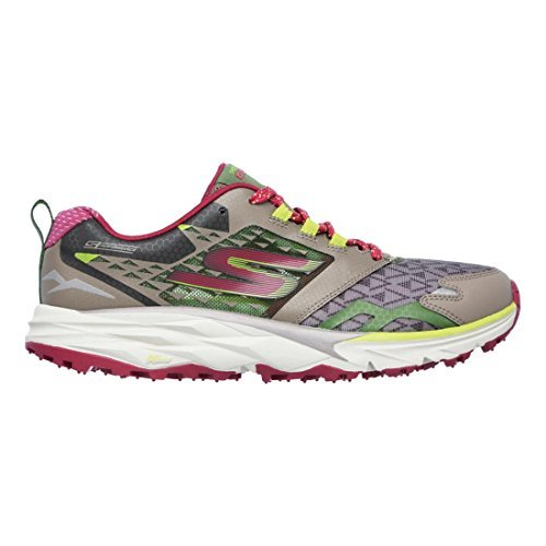 Skechers Women's GOtrail Running Shoe,Taupe/Pink,US 5.5 M