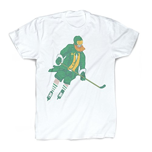 Leprechaun T-Shirt | Vintage Faded Hockey T-Shirt by ChalkTalkSPORTS | Youth Large