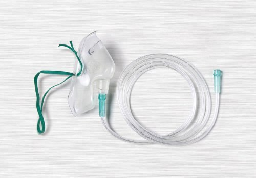 Medline Adult Latex Free Oxygen Concentration Mask - Medium - 7 Foot Tube - 12 Total ()