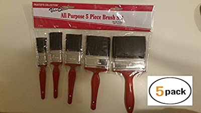 Paint Brushes (5) House Paint Brushes - Interior Paint Supplies - Wood Stain Brush - House Painting Supplies