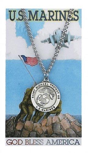 McVan Round St. Michael Marines Medal with Prayer Card