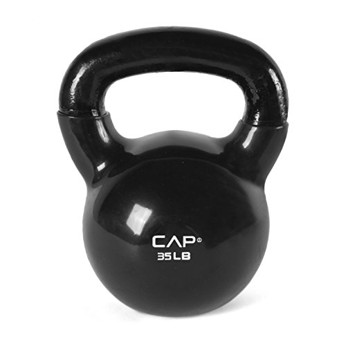 CAP Barbell Vinyl Coated Kettlebell, 35 lb/Medium