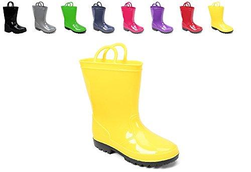 yellow rain boots for girls - 1