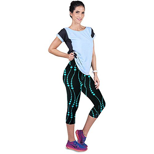 Doinshop Fitness Printed Stretch Leggings