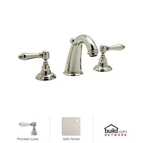 Rohl A2108LPSTN-2 R9458431Pn A2108Lp-2 San Julio Widespread Bathroom Faucet with Metal Lever Handles, Satin Nickel by Rohl