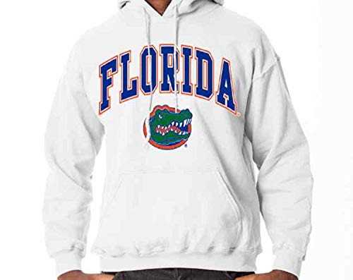 Campus Colors Florida Gators Arch & Logo Gameday Hooded Sweatshirt - White, -