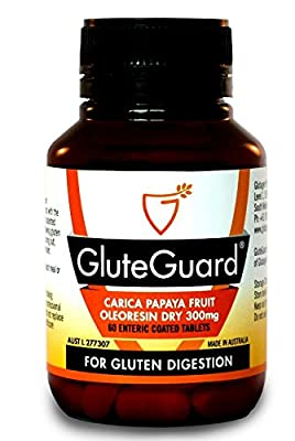 GluteGuard 60 Tablets Bottle - Enzyme Supplement for Gluten Protection