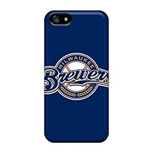 Iphone 5/5s Case Slim [ultra Fit] Baseball Milwaukee Brewers Protective Case Cover