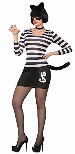 Forum Novelties 78162 Cat Burglar Female Costume, White, Uk Size 10 - 14