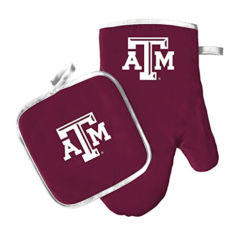Oven Mitt and Pot Holder Set - Barbeque BBQ Kitchen Backyard Outdoors - NCAA - Texas A&M Aggies -