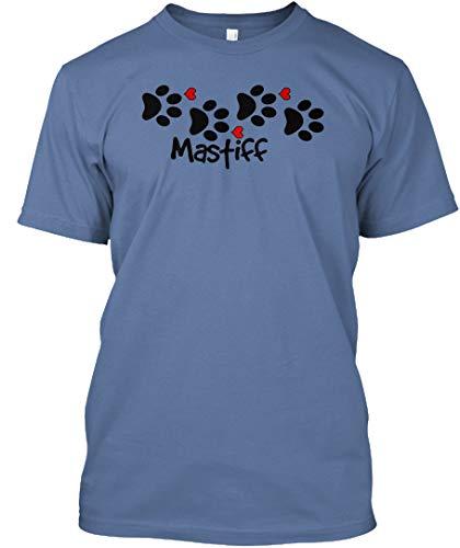 Mastiff L - Denim Blue Tshirt - Hanes Tagless ()