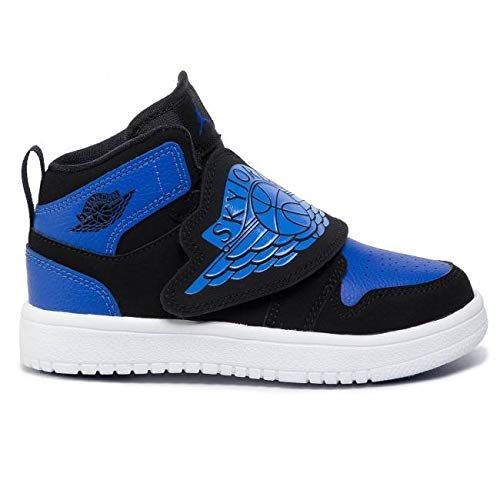 Nike Sky Jordan 1 PS Kids Black/Blue Royal BQ7197-004 (Size: 13C)