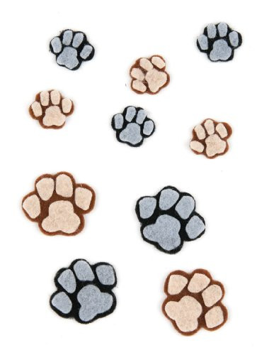 Jolee's Boutique Scrapbooking Embellishment, Paw prints (Puppy Pin Paw)