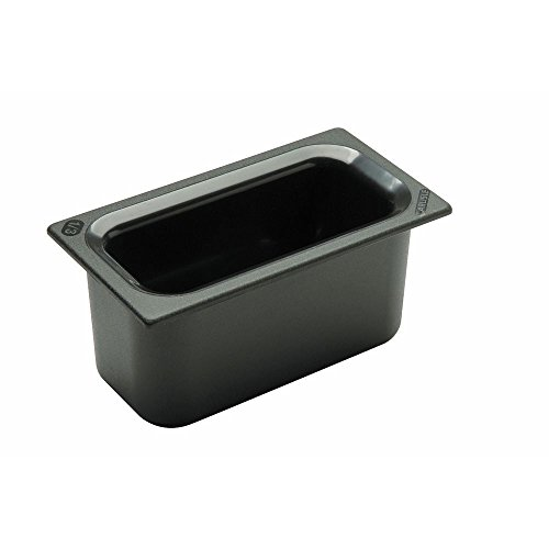 - Carlisle Coldmaster 5 1/10 qt Black ABS Plastic Food Pan - 1/3 Size 6