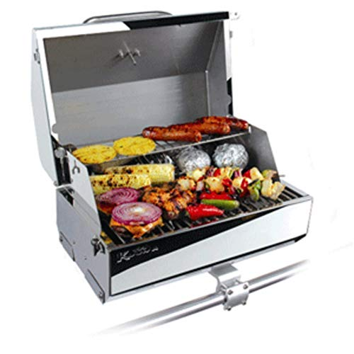Kuuma 216 Elite Gas Grill - 216 Cooking Surface - Stainless Steel Marine RV Boating Accessories ()