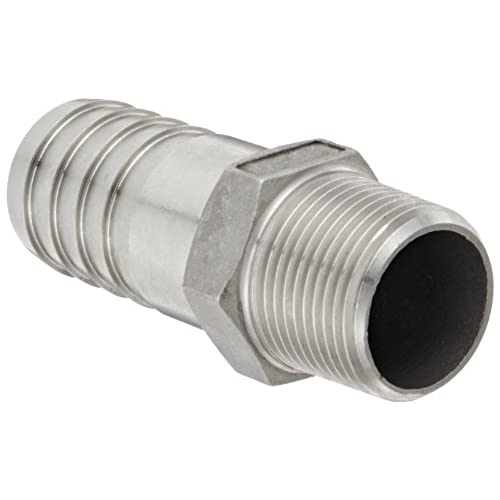 "Banjo HB075-100SS Stainless Steel 316 Hose Fitting, Adapter, 3/4"" NPT Male x 1"" Barbed for sale"