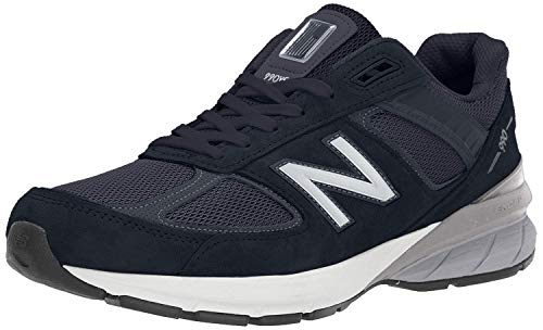 New Balance Men's 990v5 Sneaker, Navy/Silver, 12 XXW US