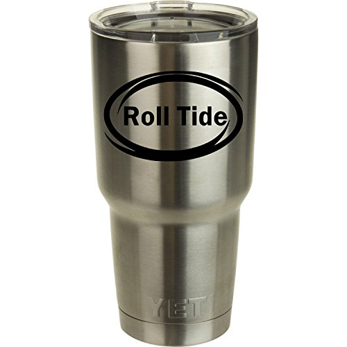 Roll Tide Yeti Tumbler Decal Alabama Crimson Tide Decal Ozark Trail Tumber Black or White Decals 2.75