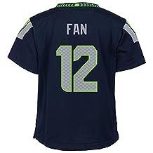 Boys Kids Toddler Medium (5-6) Seattle Seahawks Nike #12 Fan Replica Jersey - College Navy
