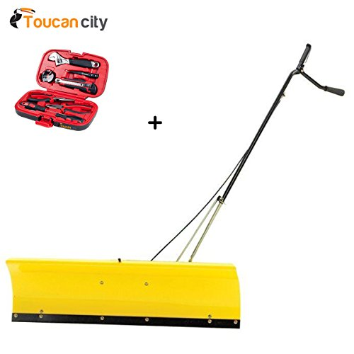 John Plow Deere - Toucan City John Deere 46 in. Front Blade Attachment for Tractors BG20943 And Tool Kit (9-Piece)