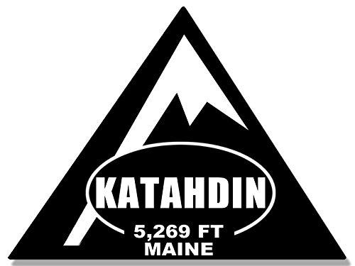 TRIANGLE Shaped KATAHDIN Sticker (rv climb hike maine (Climb Sticker)