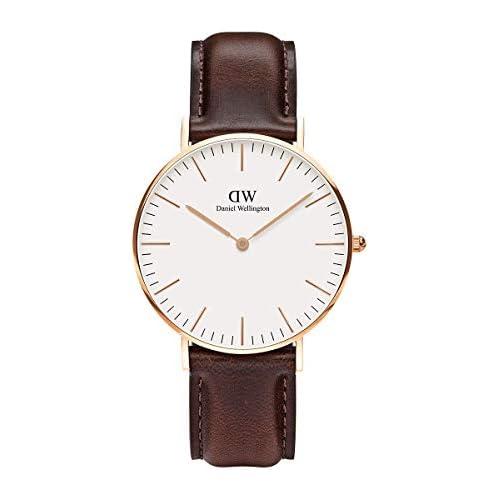 chollos oferta descuentos barato Daniel Wellington 0511DW Reloj con correa de acero para mujer color Blanco Rose Gold