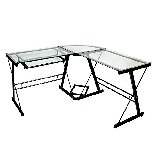Walker Edison D51Z29 Soreno L-Shape Desk, 29