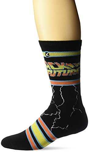 Odd Sox Unisex-Adults Back to the Future (Knit), Multi, Shoe Size 8-12