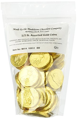 Assorted Liberty Gold Coins Solid Milk Chocolate (1/2 Lb - 8 Oz) (Gold Chocolate Coins compare prices)