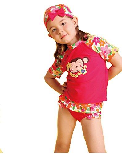 QRH Little Girls 3 Piece Rashguard Swim Set